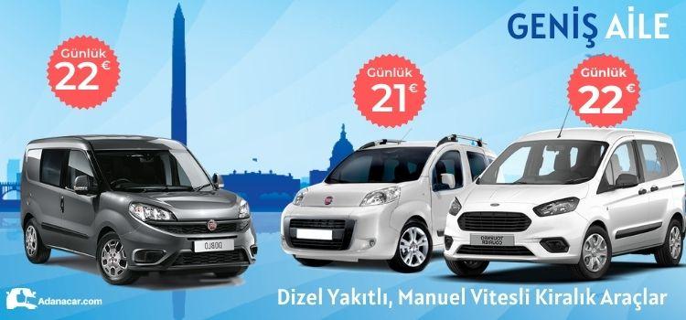 Adana doblo kiralama kampanyası, erken rezervasyon 2021 yaz courier kiralama indirimleri