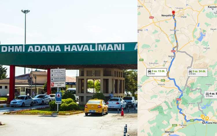 Adana Havalimanından Nevşehir'e Nasıl Gidilir?