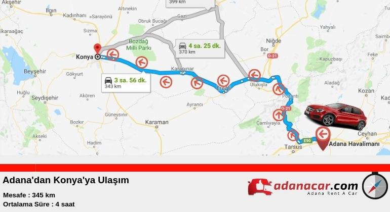 Adana'dan Konya'ya Nasıl Gidilir ?