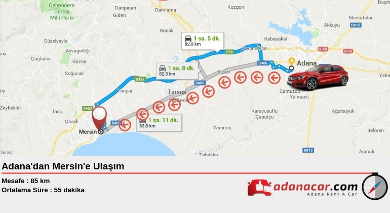 Adana'dan Mersin'e Nasıl Gidilir ?