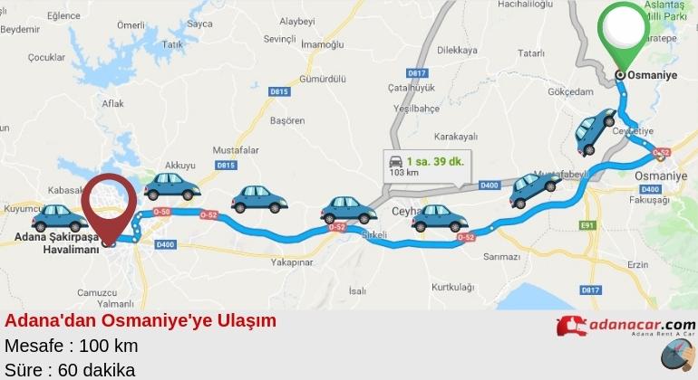 Adana'dan Osmaniye'ye Nasıl Gidilir ?
