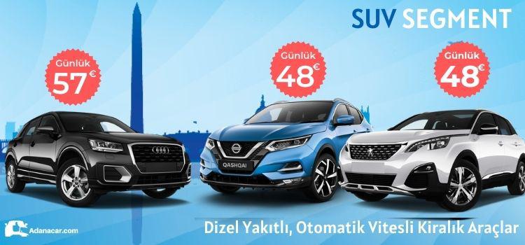 Adana suv araç kiralama kampanyası, erken rezervasyon jeep kiralama indirimi
