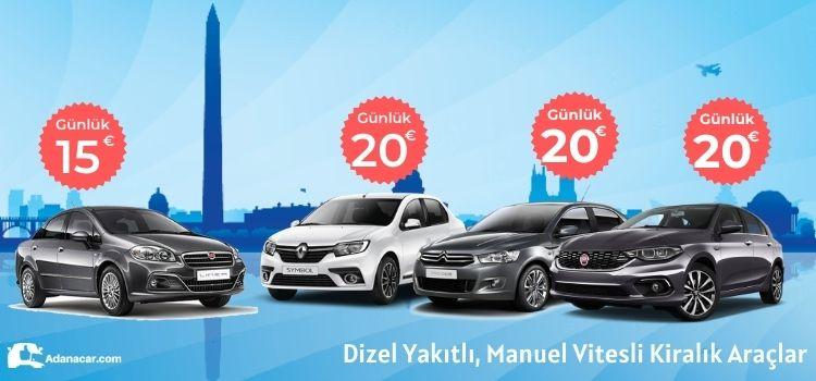 Adana oto kiralama erken rezervasyon, ekonomik kiralık araç fiyatları