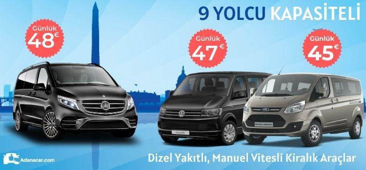 Adana minibüs kiralama kampanyası, erken rezervasyon indirimleri ile Adana vito kiralama fırsatı